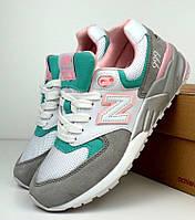 Женские кроссовки New Balance 999 white/gray/pink. Живое фото (Реплика ААА+), фото 1