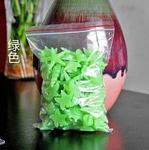 Люмінесцентні салатові камені в акваріум - у наборі 10шт., розмір одного каменю 2-3см, світяться в темряві