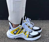 Кроссовки Louis Vuitton Archlight Sneakers Yellow. Живое фото. Топ реплика ААА+, фото 1
