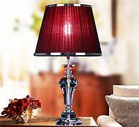 Декоративная настольная лампа Shange изкристалла K9 с абажуром.