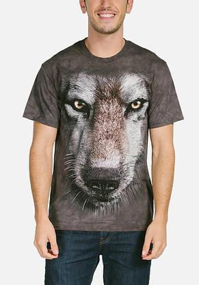 3D футболка мужская The Mountain р.2XL 62-64 RU футболки с 3д принтом рисунком - Волк, фото 2
