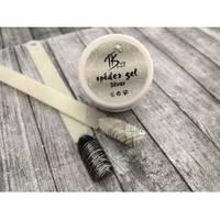 """Гель-паутинка для дизайна ногтей """"Spider gel"""" (серебро)"""