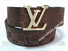 Ремень женский кожаный Louis Vuitton, ширина 40 мм., реплика арт. 930709