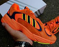 """Кроссовки Adidas Yung 1 """"Orange Navy"""". Живое фото. (Топ реплика ААА+)"""