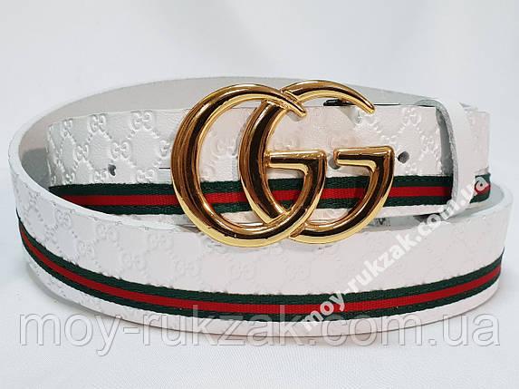 Ремень женский кожаный Gucci, ширина 40 мм., реплика арт. 930711, фото 2