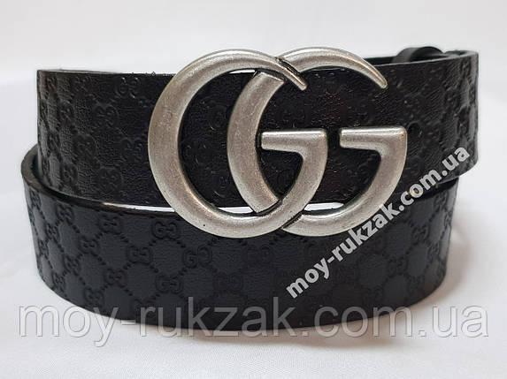 Ремень женский кожаный Gucci, ширина 40 мм., реплика арт. 930718, фото 2
