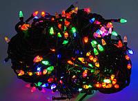 Гирлянда светодиодная LED 100 мультик черный, Гірлянда світлодіодна LED 100 мультик чорний, Гирлянды 2018- 2019, Гірлянди 2018- 2019