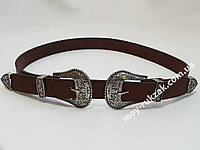 Ремень женский кожаный с двумя пряжками, ширина 25 мм., арт. 930703