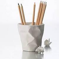 Подставка для канцелярии Погнутый стакан White