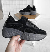 Женские кроссовки Acne Studios Black. Живое фото. Люкс реплика ААА+