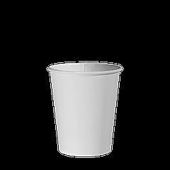 Стакан бумажный Белый 175мл. 50шт/уп (1ящ/54уп/2700шт) (КР69)