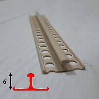 Маяк штукатурный пластиковый высота 6 мм длина 3,0 м, фото 1