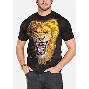 3D футболка мужская The Mountain р.2XL 60-62 RU футболки с 3д принтом рисунком - Азиатский Лев, фото 2
