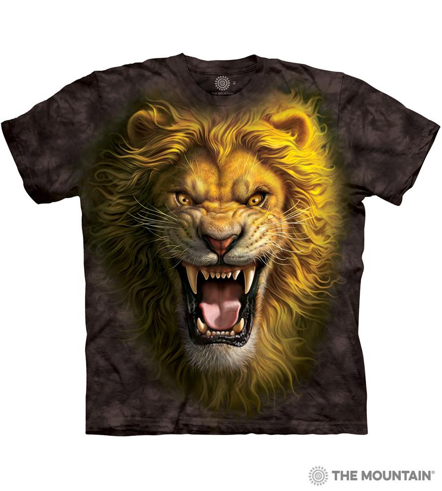 3D футболка мужская The Mountain р.2XL 60-62 RU футболки с 3д принтом рисунком - Азиатский Лев