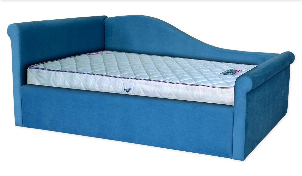 Ліжко Віола односпальне, ортопедична, з кутовими спинками. Під замовлення