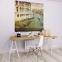 Римская штора с фотопечатью Речные каналы