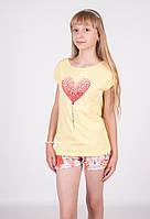 Футболка для девочки 16764 Goldi 128 Желтый