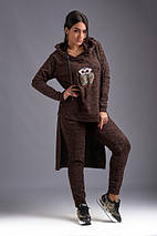 """Женский ангоровый брючный костюм """"SOVA MELANJ"""" с аппликацией (большие размеры), фото 3"""