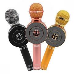 Беспроводной bluetooth микрофон для караоке WS668 с чехлом