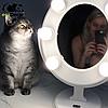 Подарок девушке на 14 февраля -Зеркало для макияжа белое, фото 5