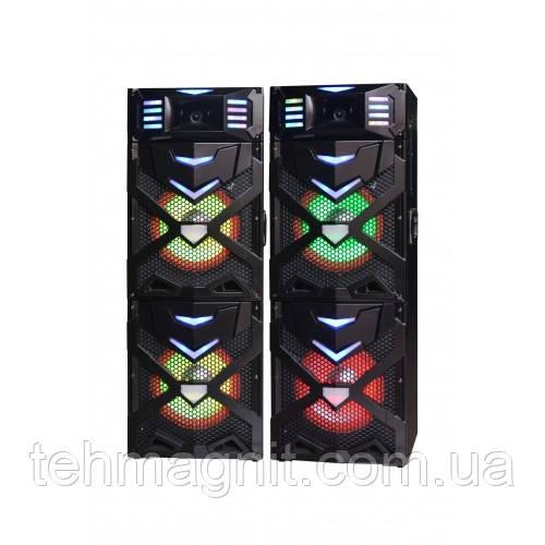 Активная стерео система колонки Wimpex WX-7312-10, 10 дюймов,2х250W, Bluetooth, микрофон, пульт