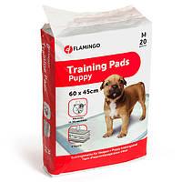 Пеленки Karlie-Flamingo Training Pads Puppy для собак 60х40 см. 20 шт