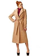Пальто кашемировое на подкладке оптом. Модель ПЛ003_бежевый, фото 1