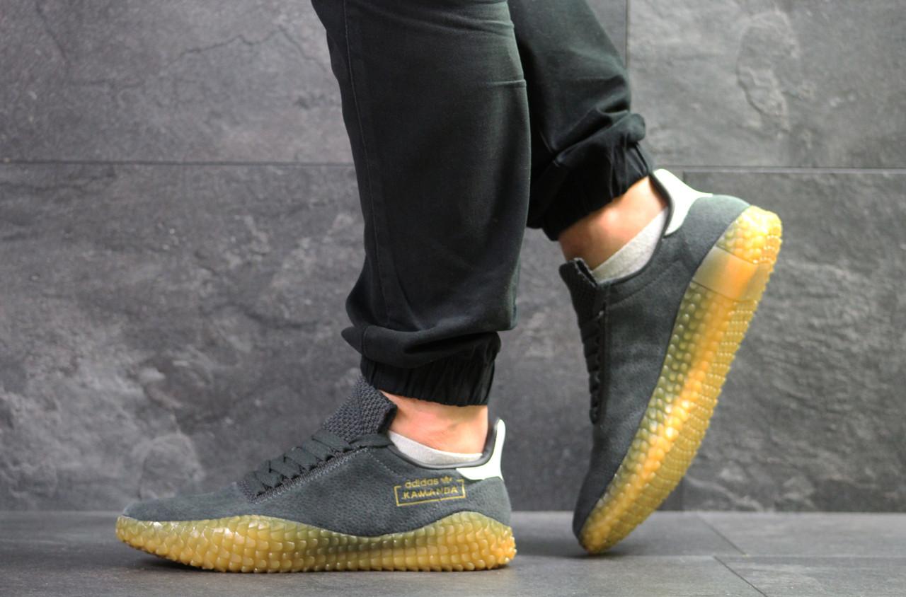 Мужские кроссовки Adidas Kamanda,замшевые,серые 43р