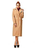 Пальто кашемировое на подкладке оптом. Модель ПЛ005_бежевый