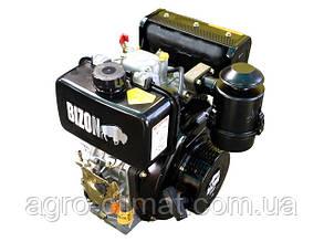 Дизельный двигатель BIZON 178F, под шлицы (Ф25 мм)