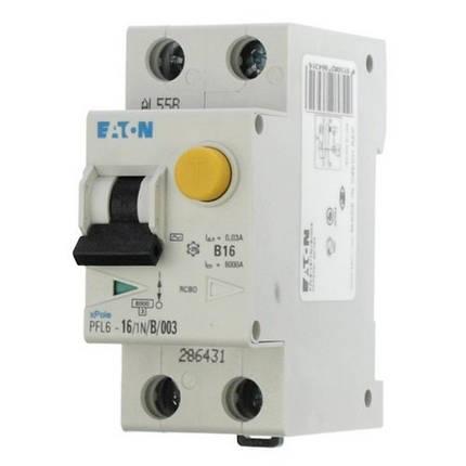 Дифференциальный автомат PFL6 1+N, 25A, 30mA, х-ка С, 6кА, тип AС Eaton, 286469, фото 2
