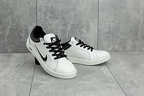Кеды CrossSAV 35 (Nike) (весна-осень, подростковые, кожа, бело-черный)
