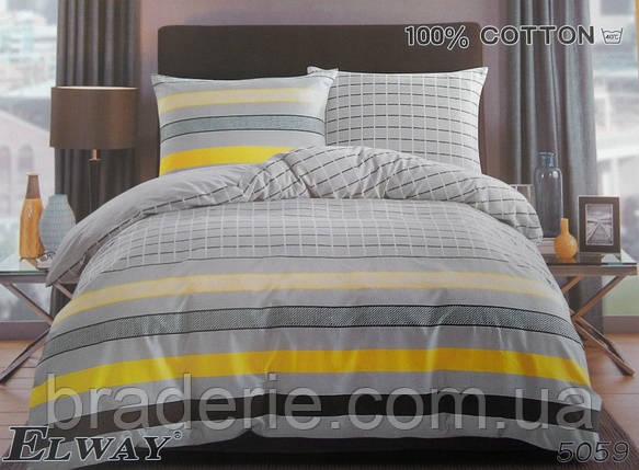 Сатиновое постельное белье евро ELWAY 5059 Геометрия, фото 2
