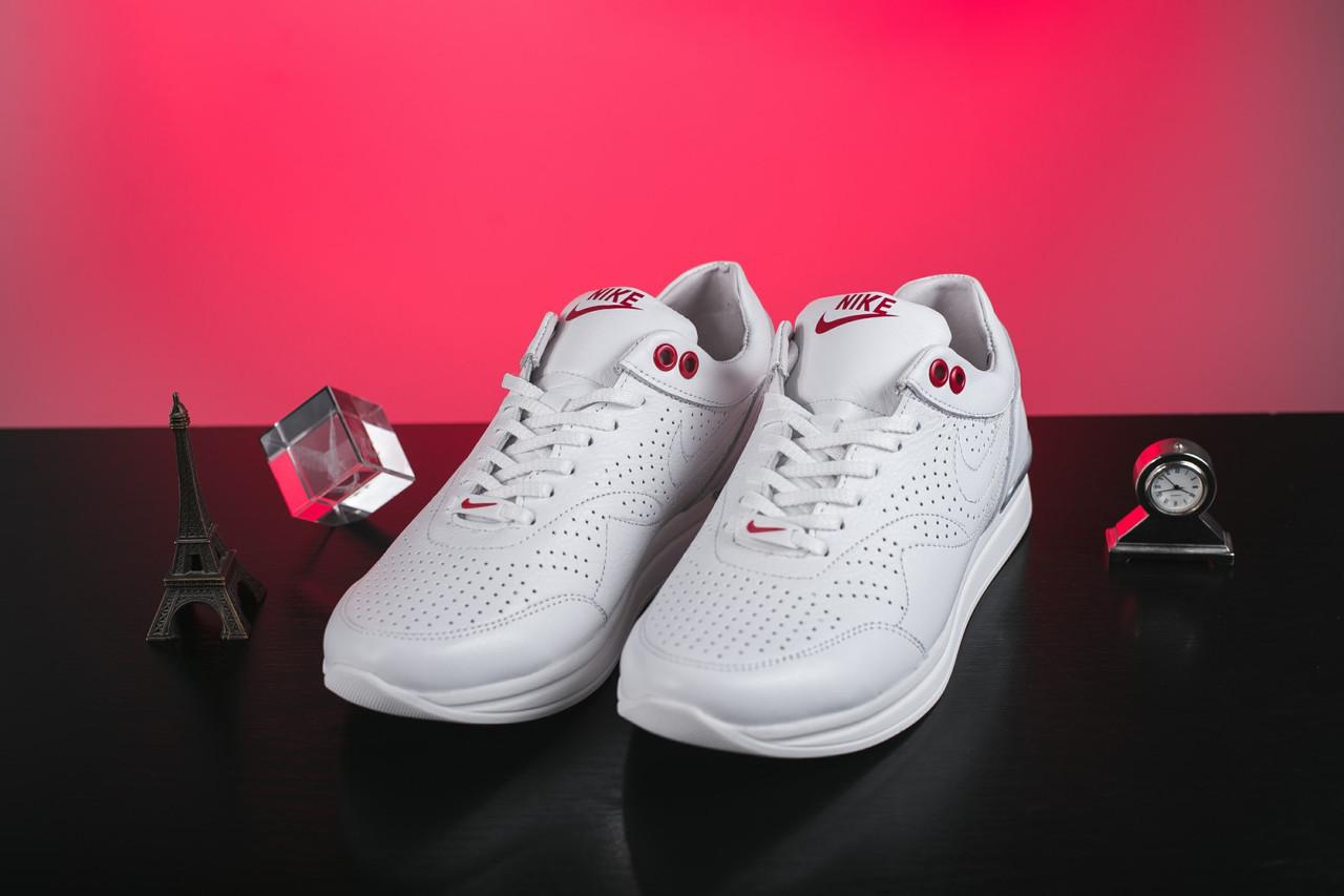 f9c74cd1 Женские кожаные кроссовки Nike весна-осень, женские, кожа, белый ...