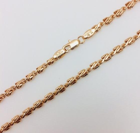 Цепочка мужская плетение Лезвие 60 см ширина 0.35 см ювелирная бижутерия Fallon