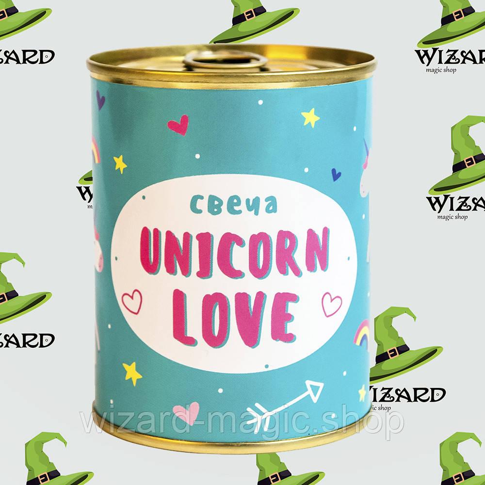 Консерва свеча Unicorn Love
