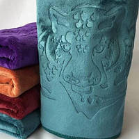 Полотенце для лица микрофибра 50-90 см разные цвета