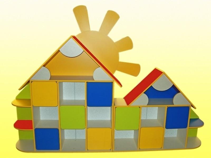 Стенка  Домик (2610*360*1880h) для детского сада