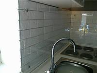 Стеклянная панель для рабочей стенки на кухню, скинали из стекла