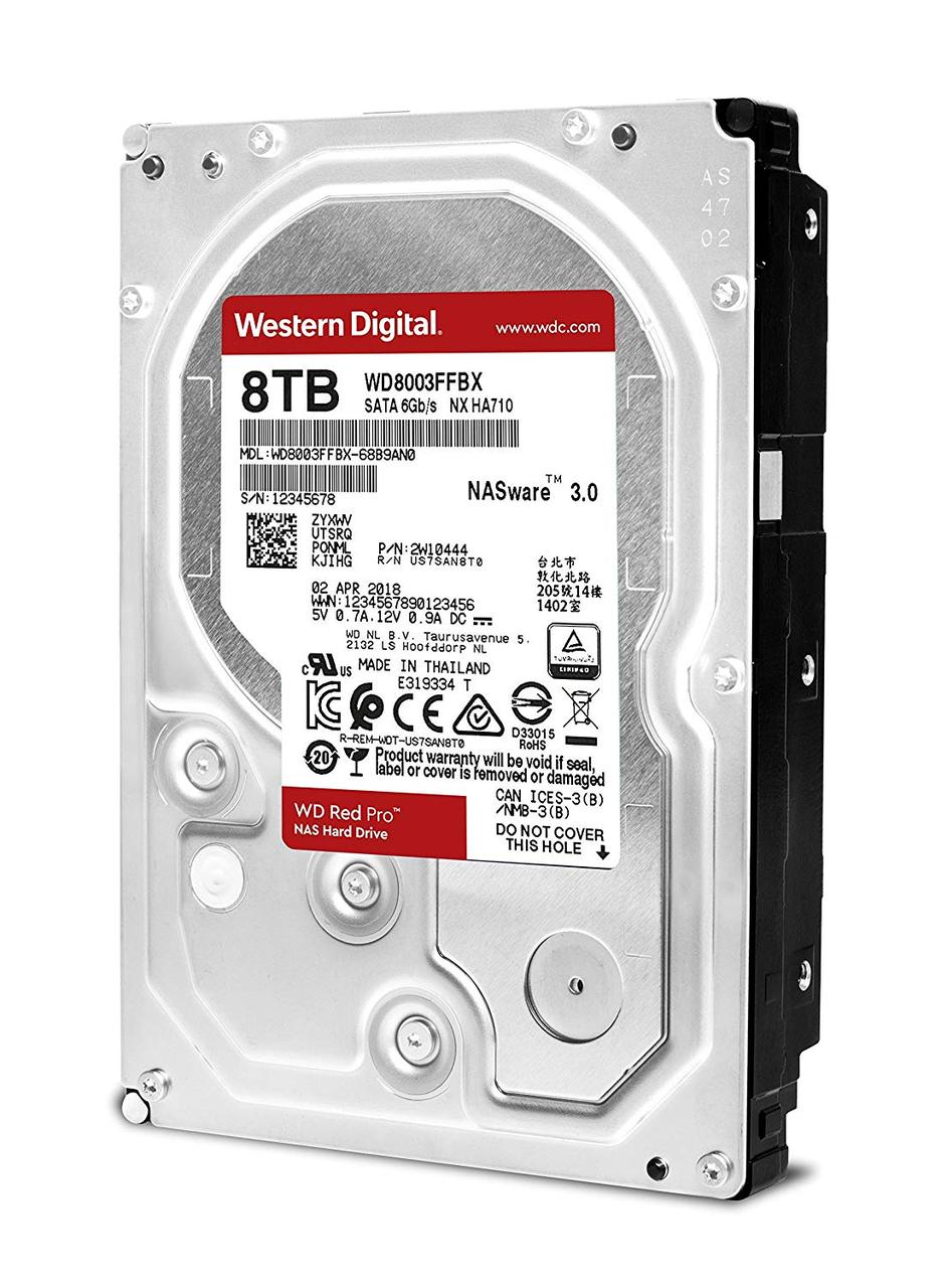 Жесткий диск 3.5' 8Tb Western Digital Red Pro, SATA3, 256Mb, 7200 rpm (WD8003FFB