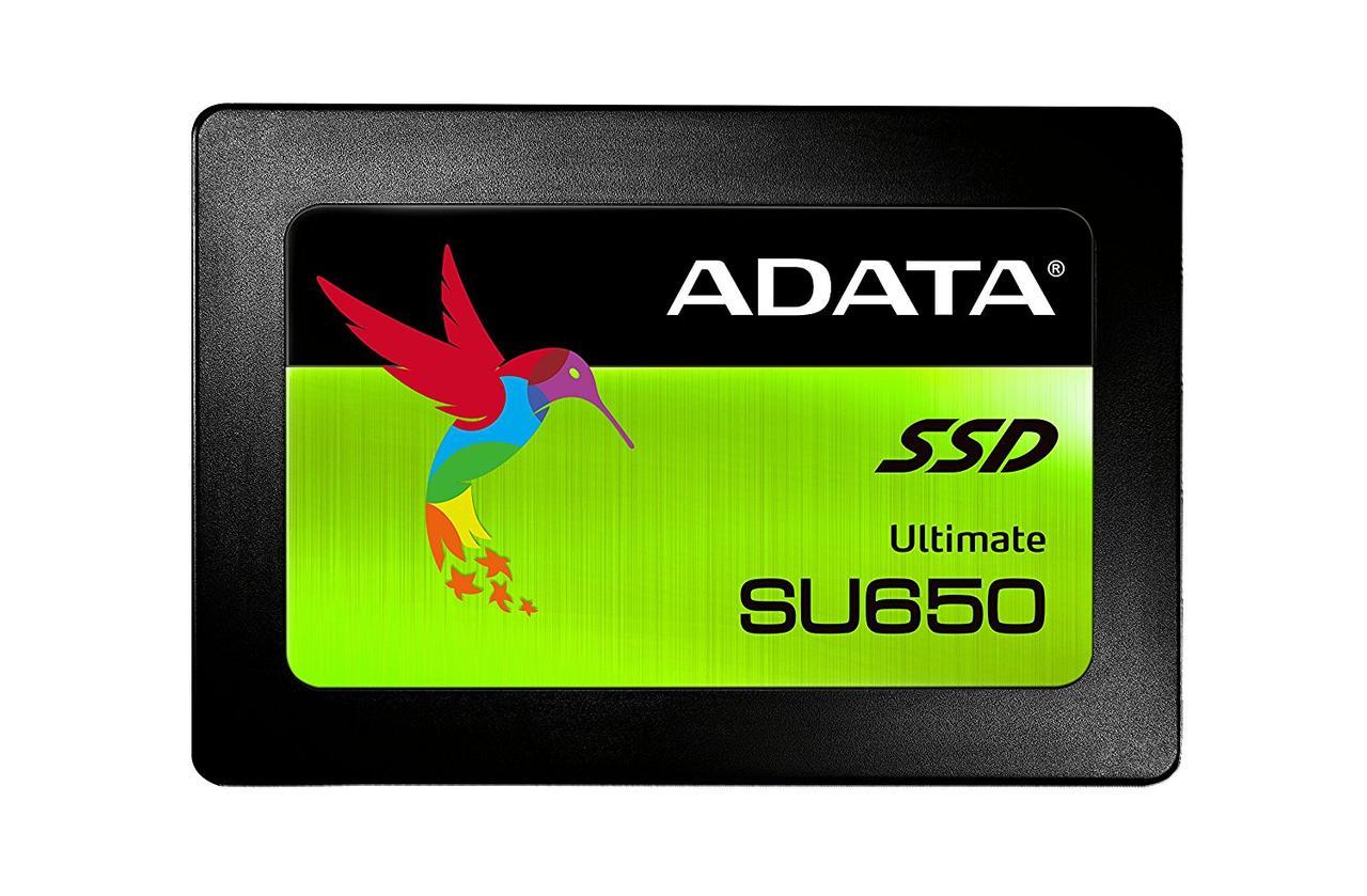 Твердотельный накопитель 480Gb, A-Data Ultimate SU650, SATA3, 2.5', 3D TLC, 520/