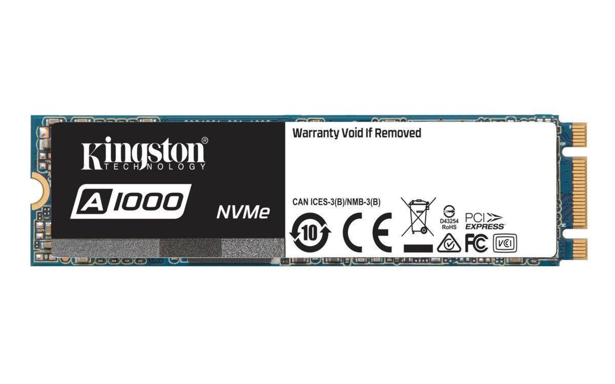 Твердотельный накопитель M.2 480Gb, Kingston A1000, PCI-E 2x, TLC 3D NAND, 1500/