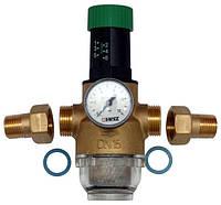 """Редуктор давления  HERZ для горячей воды(1,0-6,0 бар,)  1/2"""" DN 15мм. Температура 0-70 С."""