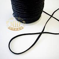 Сутажный шнур (сутаж), цвет Black, 1м
