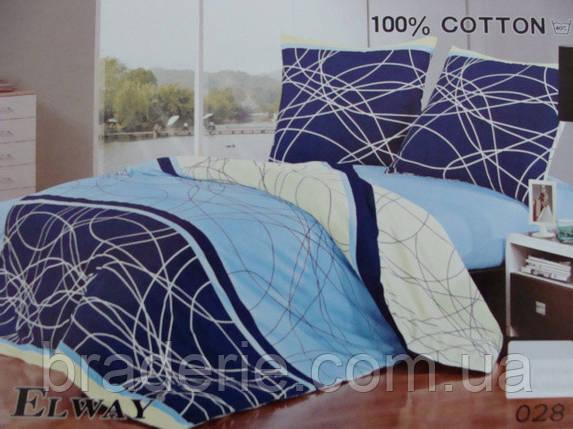 Сатиновое постельное белье евро ELWAY 028, фото 2
