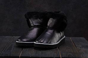 Ботинки Best Vak УГ44-701 (Ugg) (зима, женские, кожа, черный)