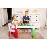 Детские пластиковые столики для конструкторов лего и творческих занятий, Польша, фото 1