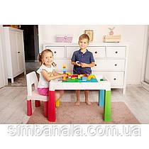 Дитячі пластикові столики для конструкторів лего і творчих занять, Польща
