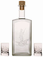 Набор Kozap бутылка (0.5л) + 2 рюмки (0.035л) 12/1