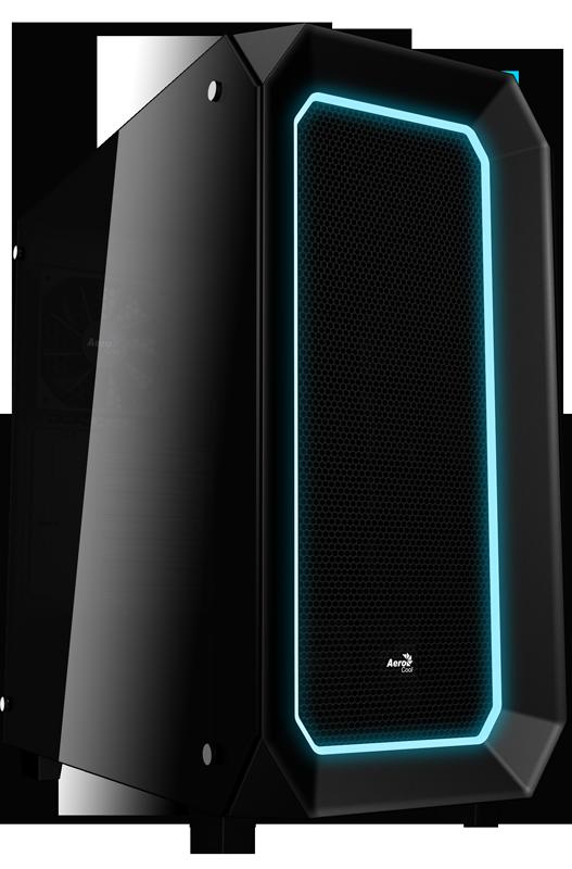 Корпус Aerocool 'Project 7' P7-C0, Black, Mid Tower, без БП, 0,7 мм, для ATX / M